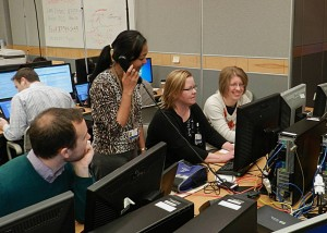 Carolyn O'Donnell, R.Ph., BCOP, third from left, works with the Lancaster General Health e-Health team, including (from left) Mike Kling, Christine Cox, and Miska Yost.